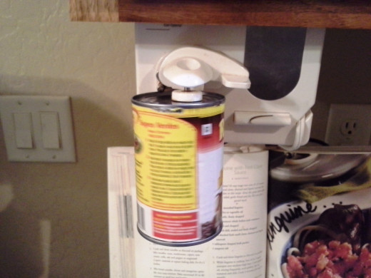 Step Three: Open up your can of refried beans