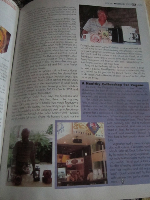 Page 2 of article featured in Cook Magazine