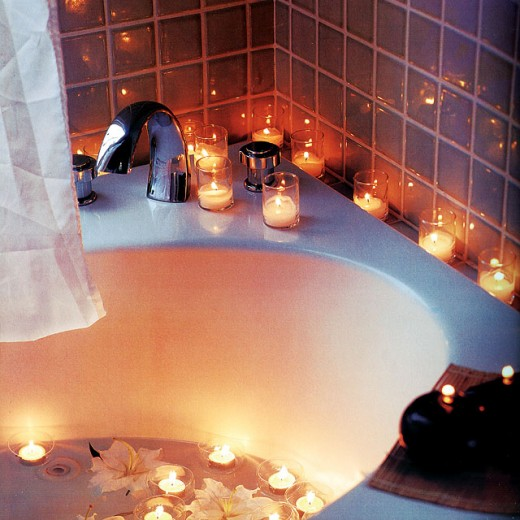 Pamper your woman in the bath on a special occasion
