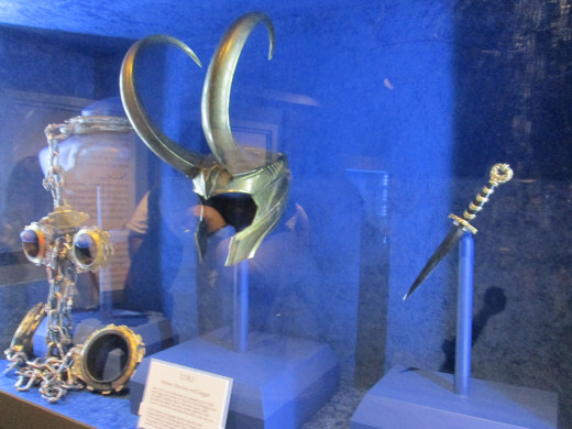 Loki's props from Thor: The Dark World.