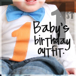 A Handmade Project: An Outfit for a Baby Boy's First Birthday