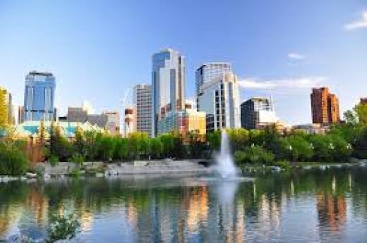 Calgary viewed from Prince's Island