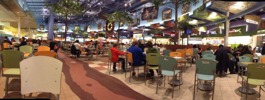 A food-court in Calgary