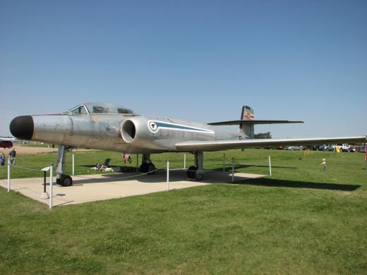 A CF-100 in a aerospace museum