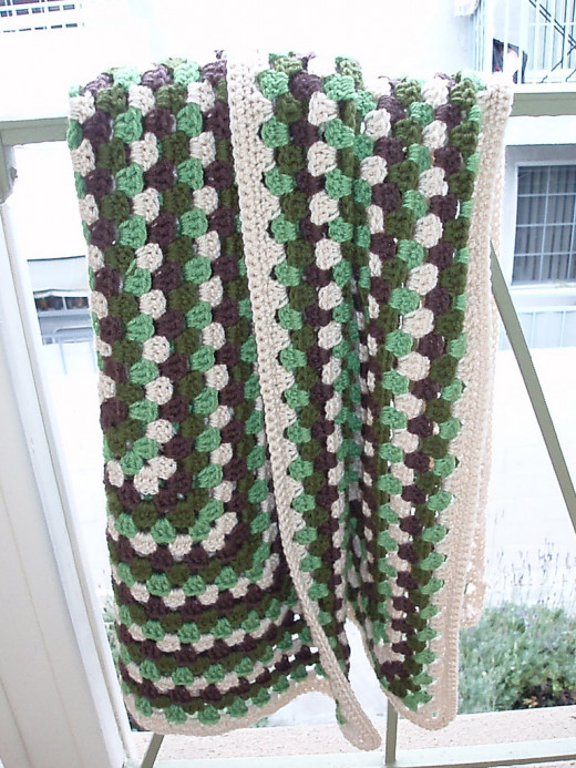 Giant Crochet Granny Square Afghan