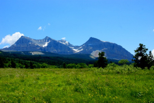 Glacier National Park during a 16 mile round trip backcountry hike in June, 2013.