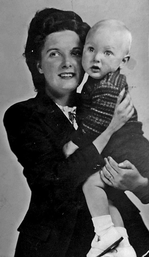 Ivy in her youth with her son.