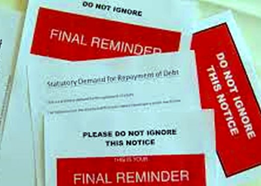 Demands for payment from debt collectors were soon arriving through the letterbox, chasing up the rent.