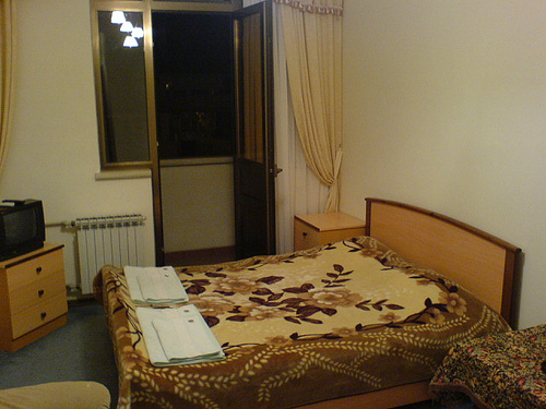 A typical tourist room in Adler/Sochi.