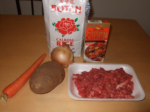 Ingredients for Curry Rice