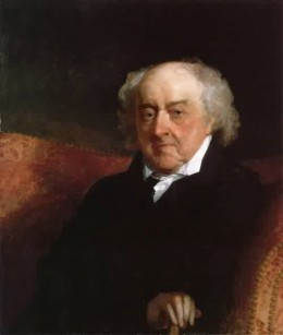 This is an 1826 oil painting of John Adams by Gilbert Stuart.