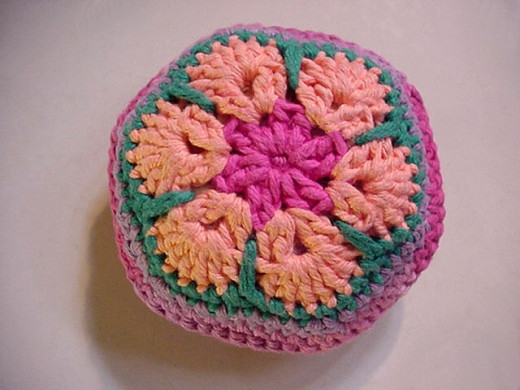 Crocheted African Flower Motif