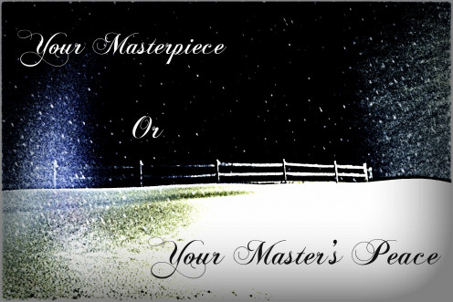 You are a masterpiece with your Master's Peace
