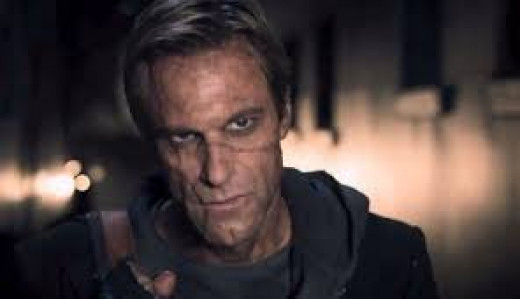Aaron Eckhart stars as the legendary monster constructed from body parts in the futuristic horror tale I, Frankenstein