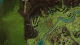 Vale Waypoint. You can see the winding hillside I mention and the 2 paths. You want to take the one in the middle.