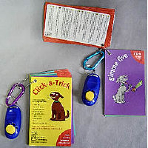 Clilck-A-Trick Cards and Clicker Set