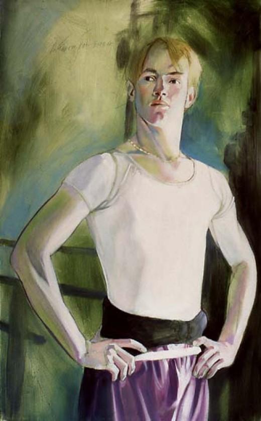 """""""Michael"""" by David Fairrington Acrylic 1997"""