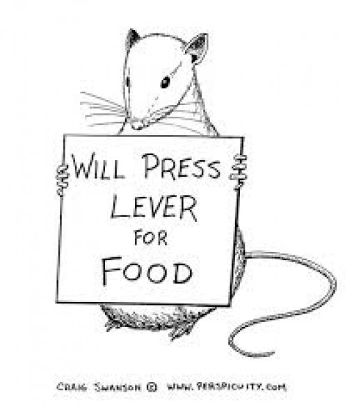 Yeah, I know this goes more with Pavlov's theory but I like it and food is on the hierarchy of needs. :)