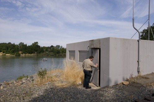 A wastewater discharge pump in the sacramento valley.  Photo courtesy of the Sacramento Bee.