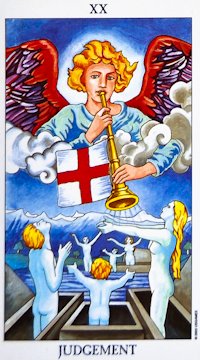 """The most common """"Judgment"""" Tarot card."""
