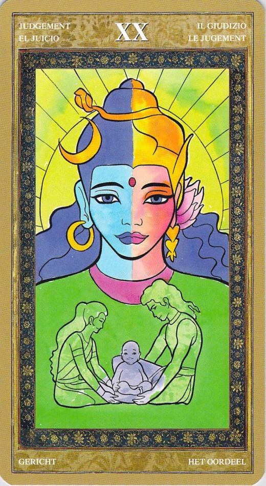 """A Hindu """"World"""" Tarot card."""