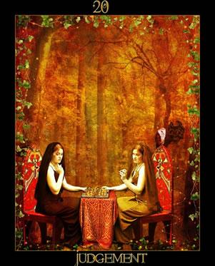 "A Wiccan ""World"" Tarot card."