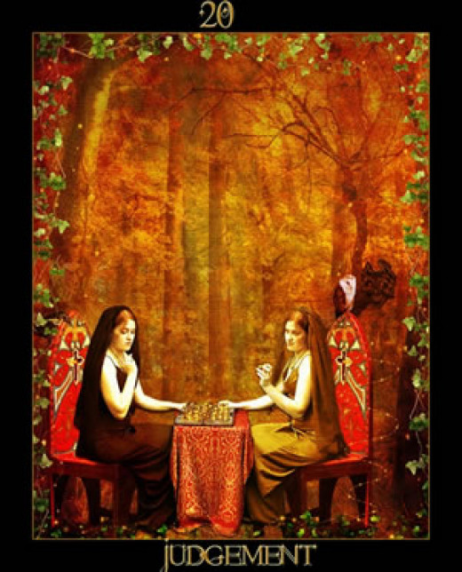 "A Wiccan ""World"" Tarot card."