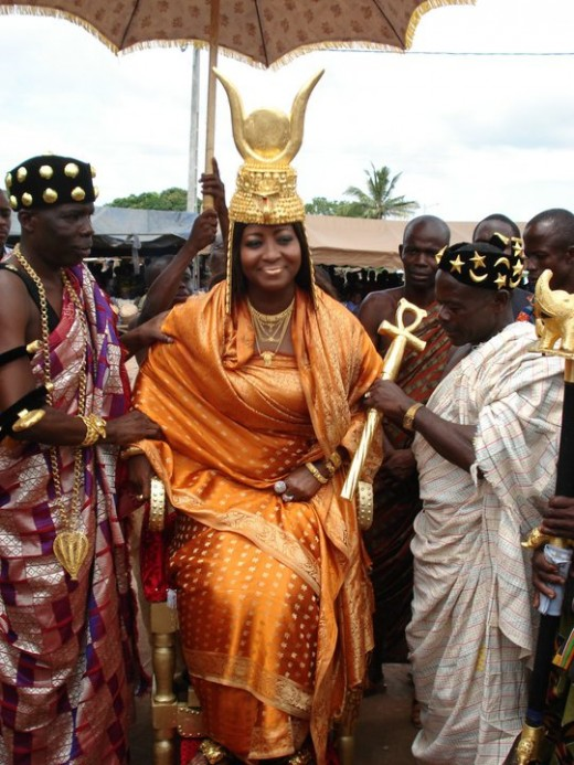 A picture of an African Empress.