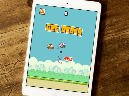 Flappy Bird on iPad Air Mini