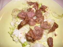 salad with slowcooked steak