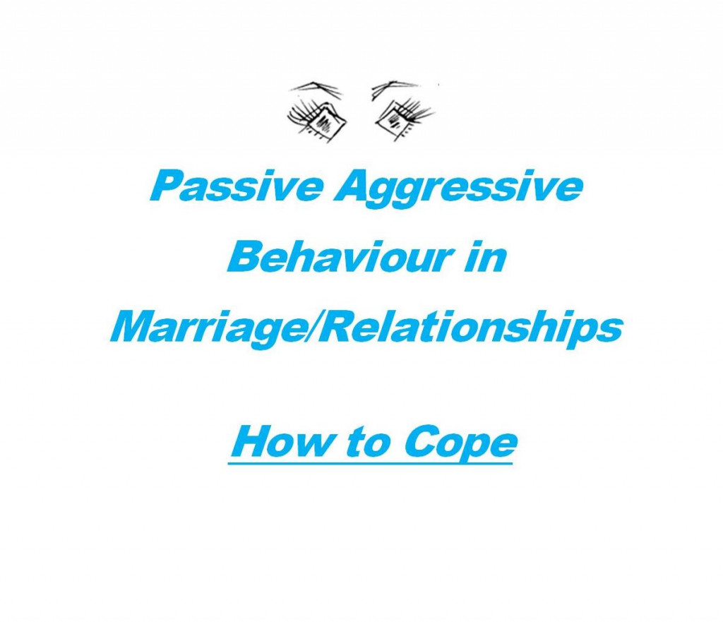 passive aggressive traits in a relationship