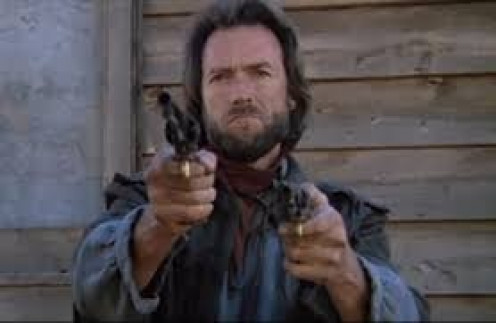 Clint Eastwood is out for vengeance in The Outlaw Josey Wales. In the film he is killed but, comes back from the dead, seeking revenge o n his enemies.