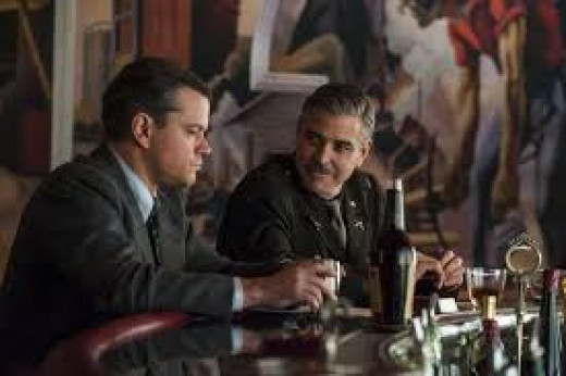 The Monuments Men stars Matt Damon as an art expert and George Clooney as the head of an elite unit of misfit soldiers tasked with saving precious artifacts at the tail end of World War II.  Clooney also directs and co-wrote the screenplay.