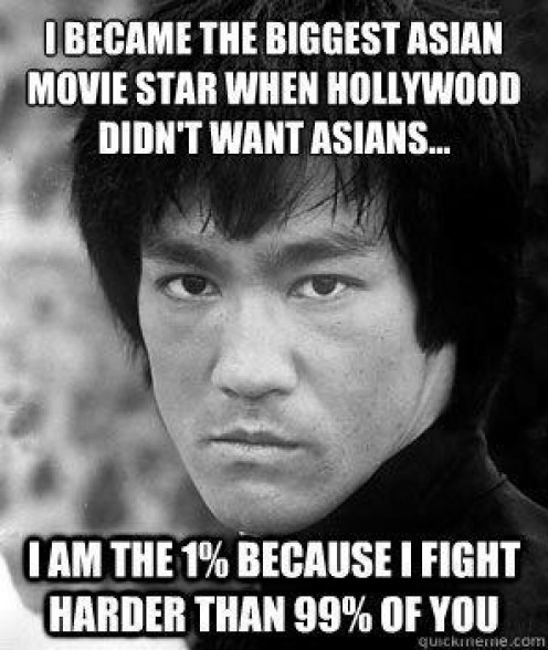 The always quotable Bruce Lee was a master of his martial arts craft and a mainstream star in America. He is admired and looked up to by many aspiring MMA fighters.