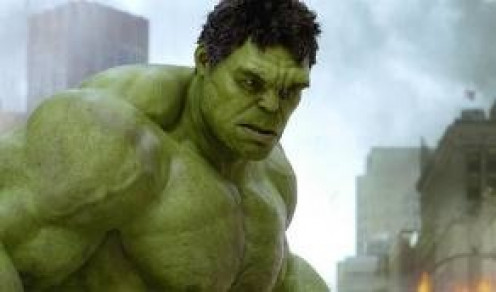 The Incredible Hulk is one of the super heroes on The Avengers. He has a mean streak and when he is mad he will make the perpetrator feel his wrath.