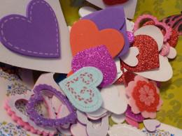 Foam heart stickers