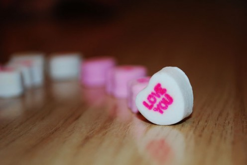 Image of candy hearts.