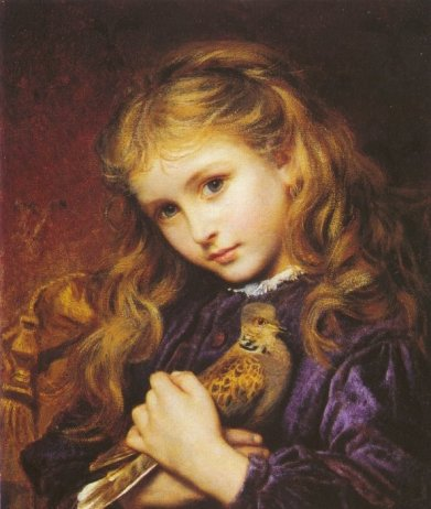 Painted by Sophie Anderson {1823-1903 } Public domain