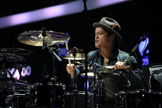 Bruno Mars on drums