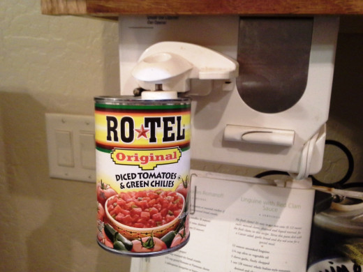 Step Six: Open up a can of Rotel