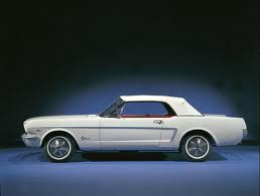 The Mustang convertible, 1965
