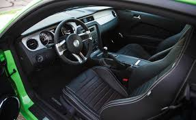 Mustang interior with leather seats
