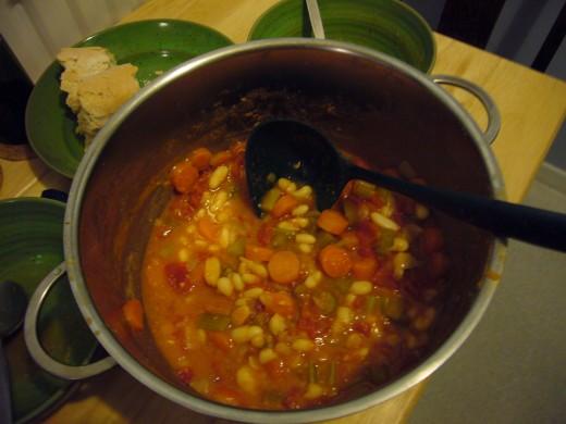 Fassoulada (Greek bean stew)