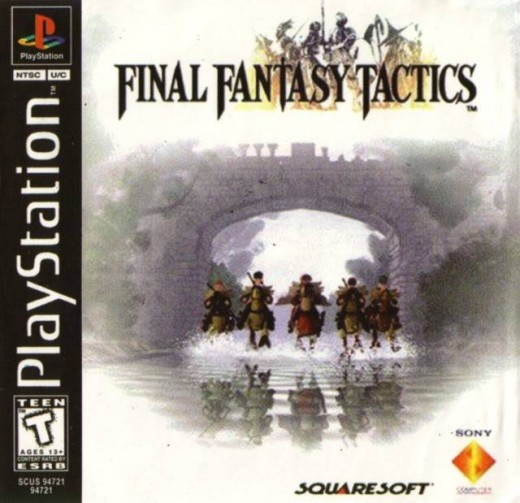 The cover of Final Fantasy Tactics for the PSX