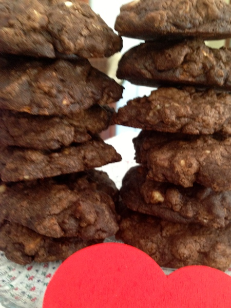 Making only twelve double chocolate cookies will quickly tell who your friends are on this Valentine's Day.