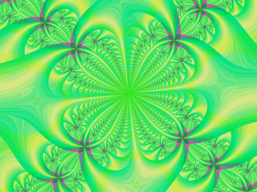 Yellow and green colored fractal image. Full-size: http://hubpages.com/u/8728594.png