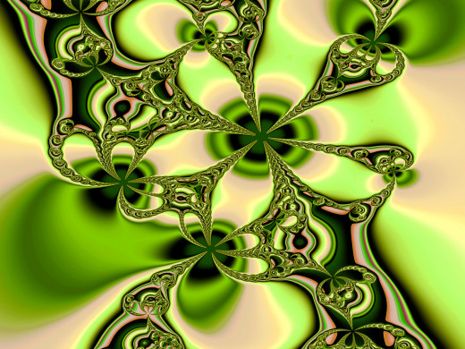 Green and yellow fractal image. Full-size: http://hubpages.com/u/8728598.png