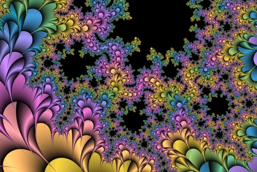 Rainbow fractal. Full-size: http://hubpages.com/u/8728996.png