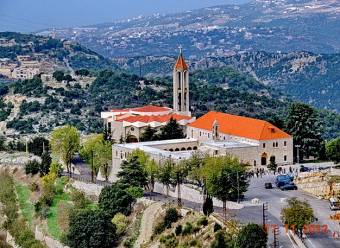 Saint Maron's monastery and St. Charbel's (Sharbel) Grave at Annaya - Jbeil - Lebanon. It is one of the nicest place in Lebanon situated at 1200 m height.