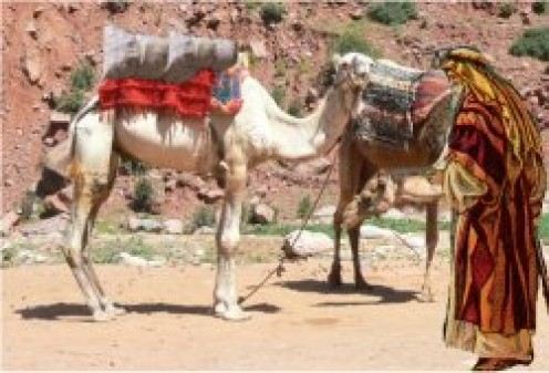 ELIEZER BROUGHT 10 CAMELS TO MESOPOTAMIA, CITY OF NAHOR